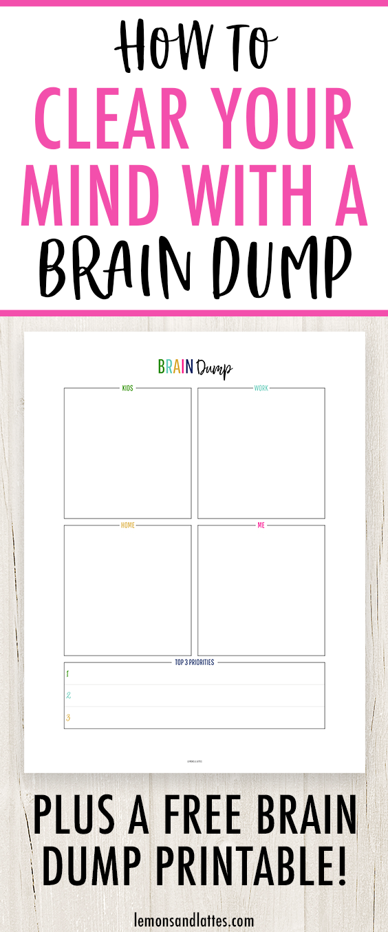 picture about Brain Dump Worksheet identified as Free of charge Mind Dump Template/Worksheet + How towards Apparent Your Head