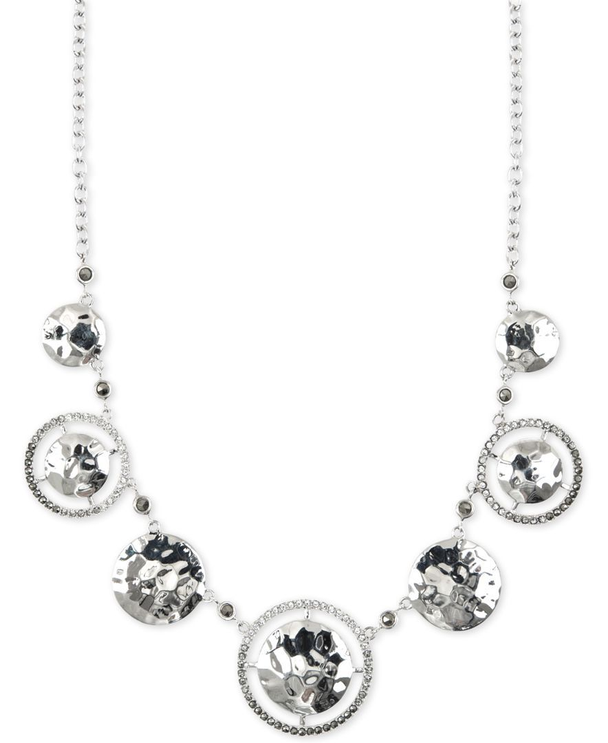 Judith Jack Silver-Tone Marcasite and Crystal Necklace