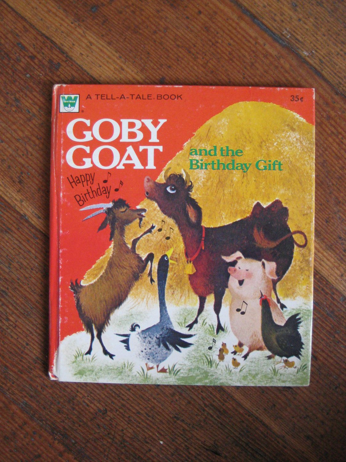 Vintage Children s Book Goby Goat and the Birthday Gift Whitman