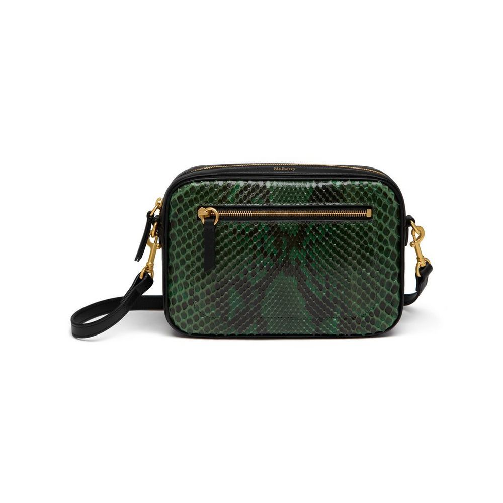 Camera Bag in Emerald Python  2967800b45c0b