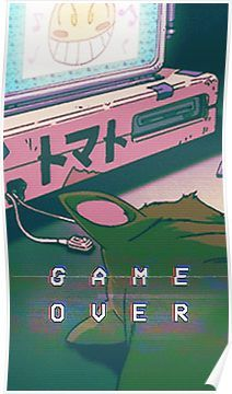 Aesthetic Game Over Poster by Indigorunner