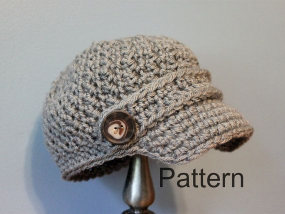 Pattern Crochet Newsboy Cap Baby And Toddler Size By Willowsloft