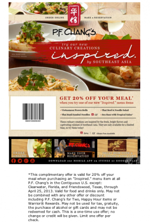 image regarding Pf Changs Printable Coupon named REPIN and Together with this PF Changs 20% Off coupon. This web