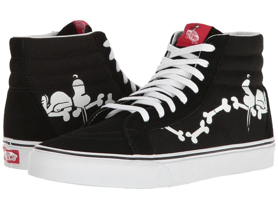b5286a3aeed9 Vans SK8-Hi Reissue X Peanuts Collaboration Skate Shoes (Peanuts) Snoopy  Bones Black