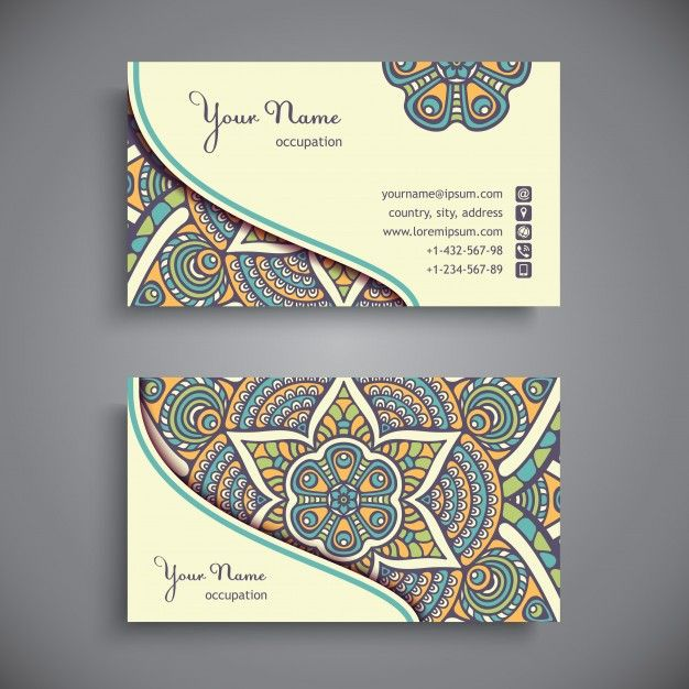 Download Business Card Vintage Decorative Elements For Free Business Card Pattern Vector Business Card Art Business Cards