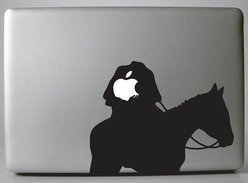25 creative macbook skins using the apple logo