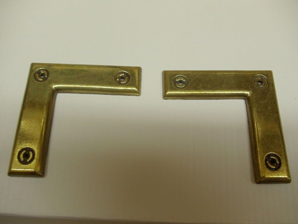 24 Antique Brass Decorated Corner Brackets~ Door~ Frame~ Cabinet ...