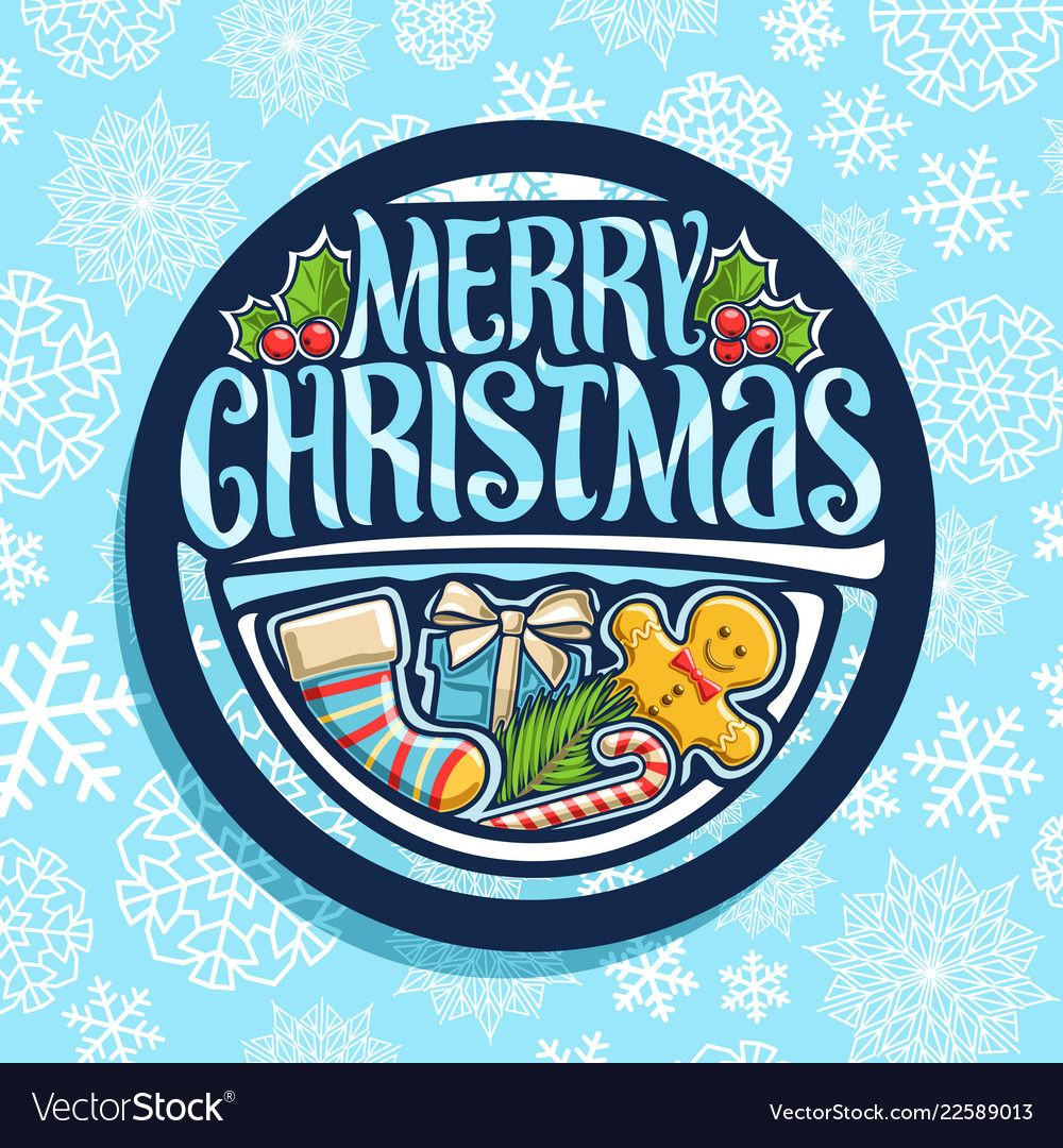 Logo for merry christmas vector image on VectorStock