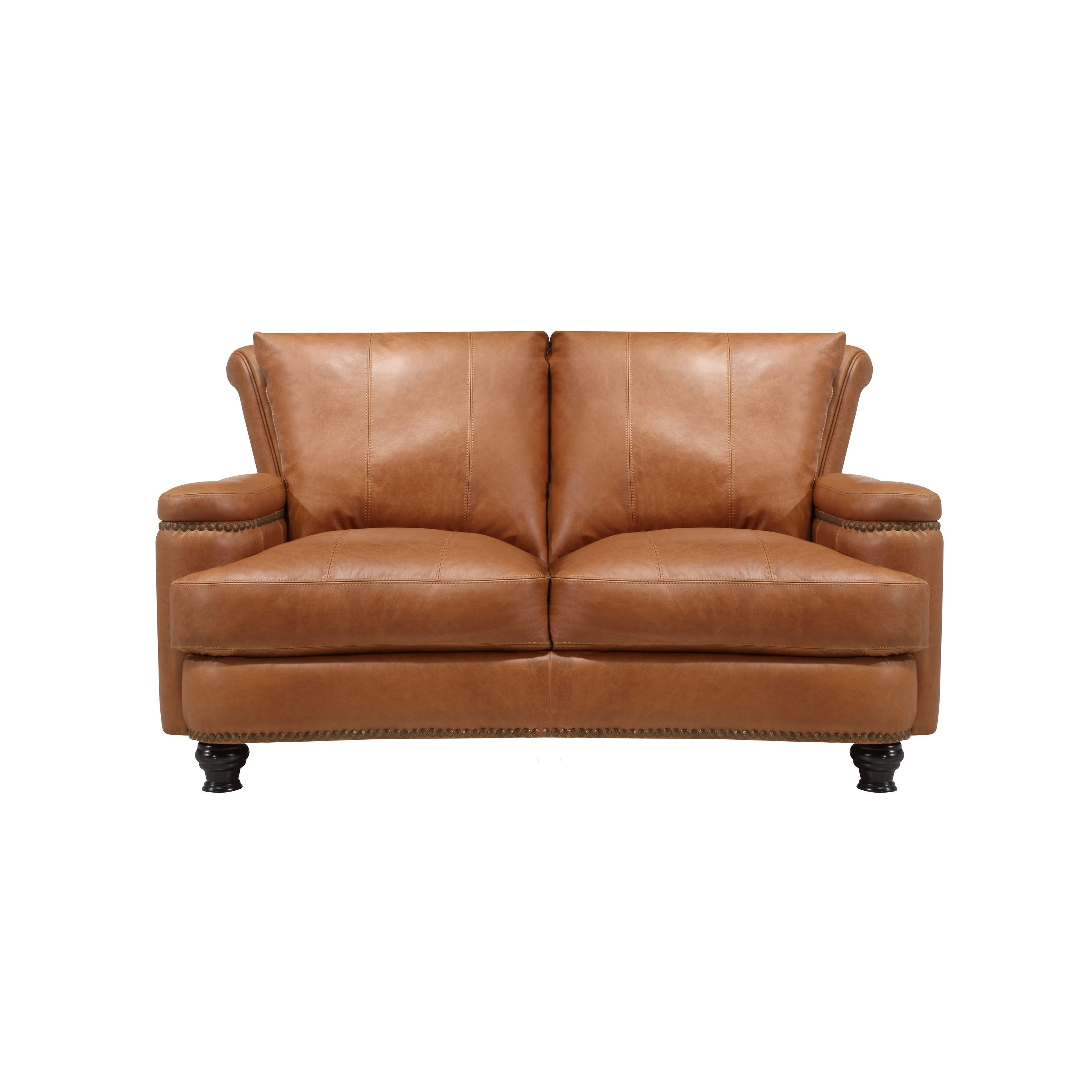 Terrific Nathan Top Grain Italian Leather Loveseat Tan Oliver Caraccident5 Cool Chair Designs And Ideas Caraccident5Info