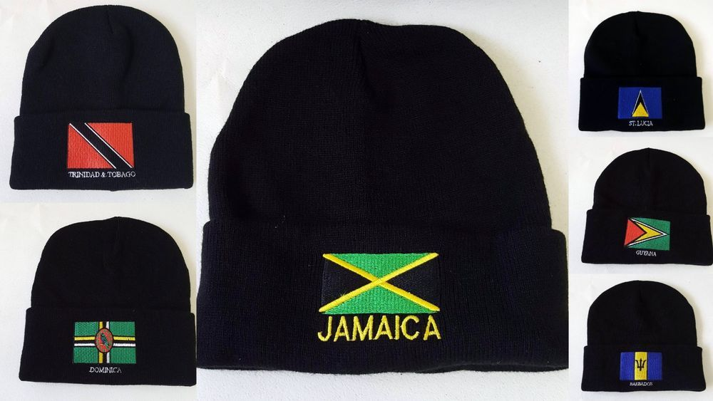 SNAPBACK Baseball Hat Cap Adjustable COUNTRY FLAG TRINIDAD ST LUCIA JAMAICIA