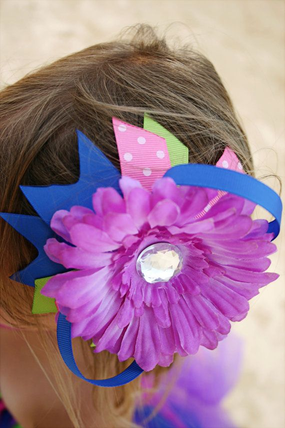 Flower Bow by TutusNBows4u on Etsy, $5.00