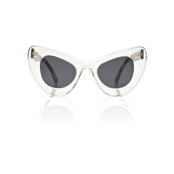 Illesteva: Two Tone Cat Eye Sunglasses ($295) ❤ liked on Polyvore