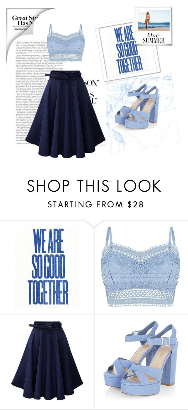 """Blue Sky !"" by maya-world ❤ liked on Polyvore featuring Lipsy"