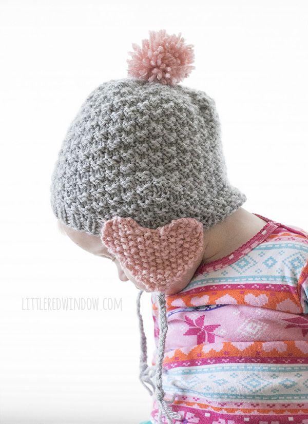 Valentine Heart Earflap Hat Knitting Pattern | Valentine heart, Knit ...