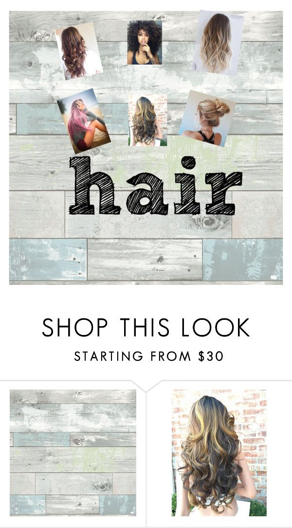 """hair styles"" by run-like-the-wind-child ❤ liked on Polyvore featuring beauty and WallPops"