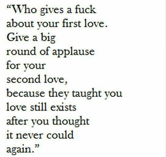 Second Love Quotes Beauteous First Love Vs Second Love Quotes Pinterest
