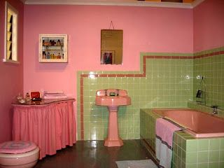 Pink And Green Bathroom Retro Pink Bathroom Green Bathroom
