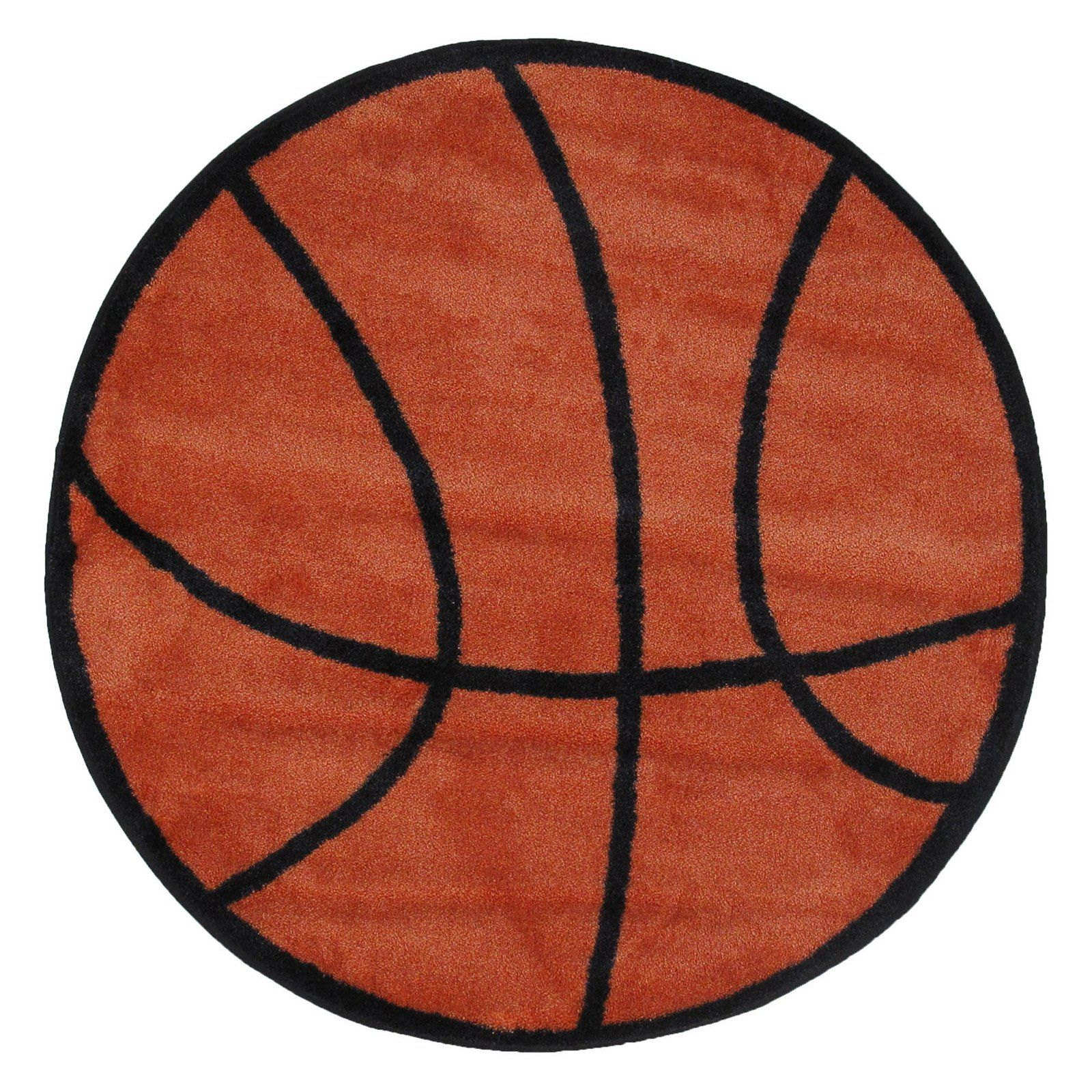 Fun Rugs Fun Time Shape FTS-004 Basketball Area Rug - Multicolor | from hayneedle.com
