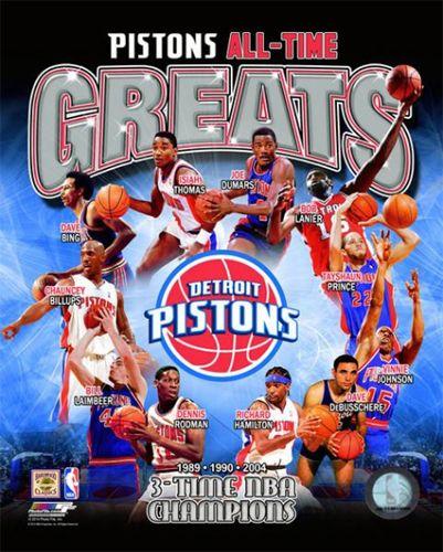 Detroit Pistons All Time Greats 11 Legends 3 Championships Premium Poster Print Photofile Detroit Pistons Bad Boy Pistons Detroit