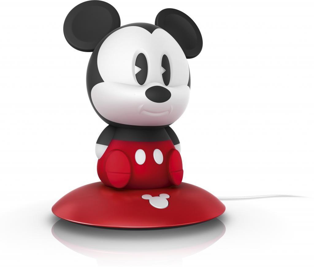 Tischlampe Mickey - Kinderlampe - LED - Schwarz/Rot - Philips