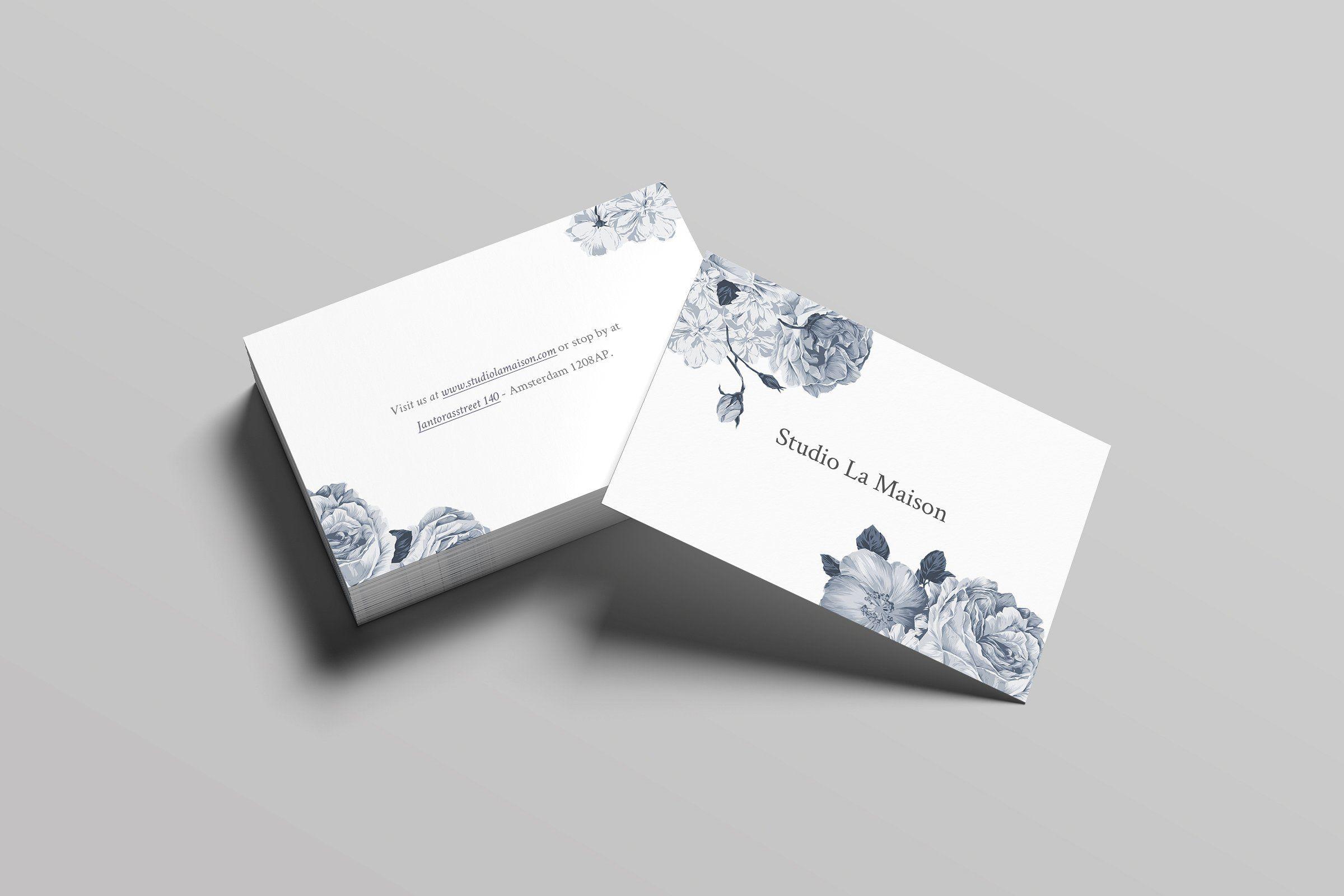 La Maison Business Card Elegant Business Cards Business Card Template Cool Business Cards