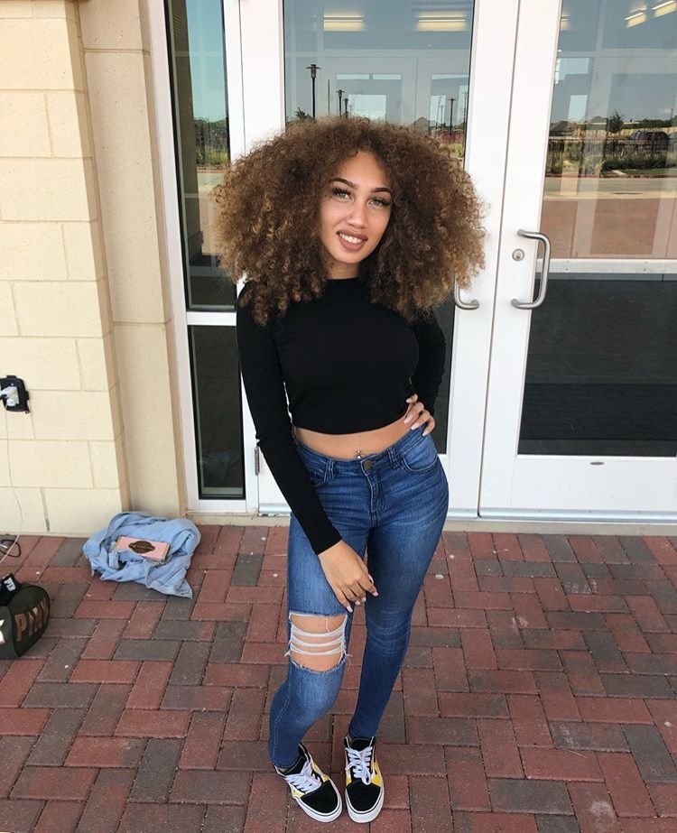 Jada Chanel Cute Outfits Curly Hair Styles Fashion
