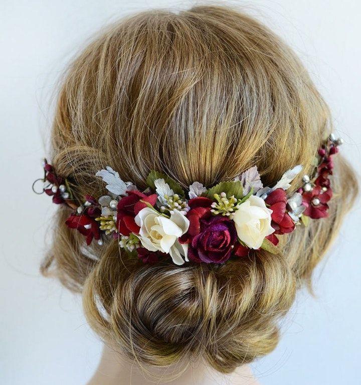 Coral Hair Accessory Flower Hair Accessory Clip Coral Hair Bow Small Coral Hair Flower Boho Hair Accessory Gift for Her Hair Flower