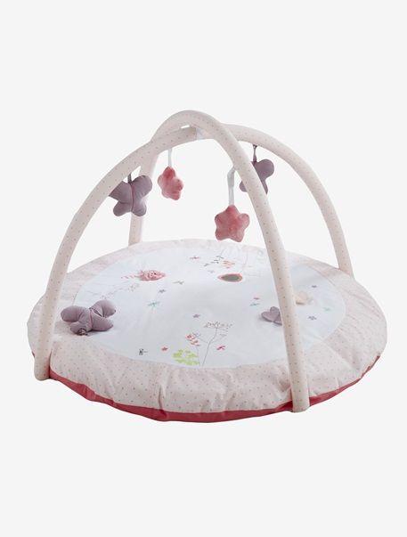 Tapis D Eveil Garden Town Blanc Rose Vertbaudet Enfant Chambre