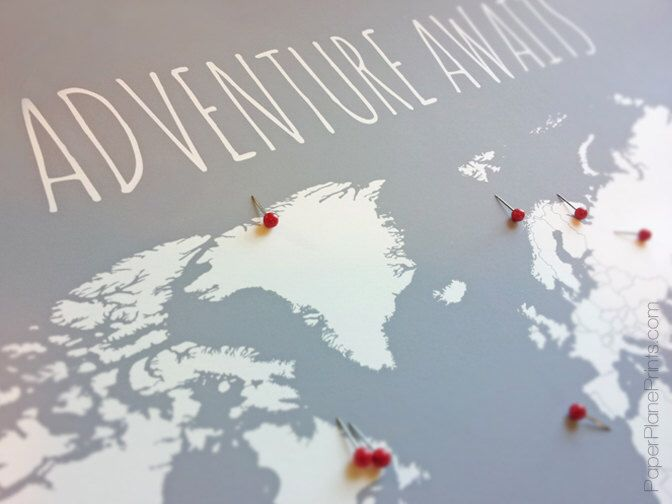 World map with pins first anniversary gift for him travel map world map with pins first anniversary gift for him travel map husband gift world travel push pin map poster 11x14 with foam core board gumiabroncs Choice Image