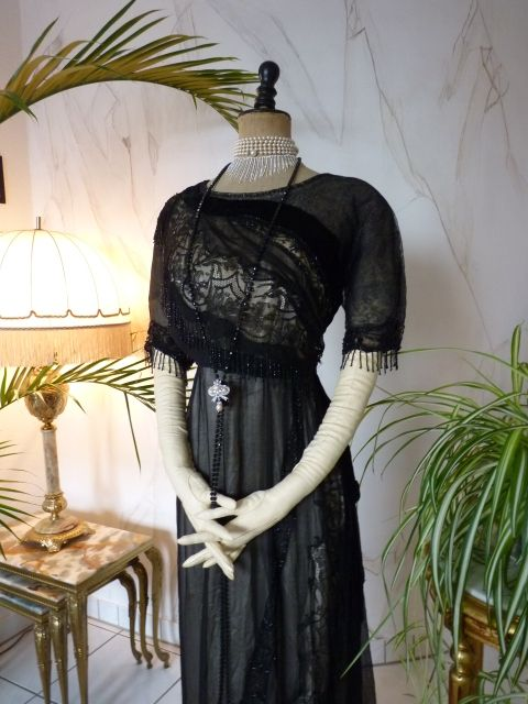 Black Lace Titanic Era Evening Gown, ca. 1912 | old things I love ...