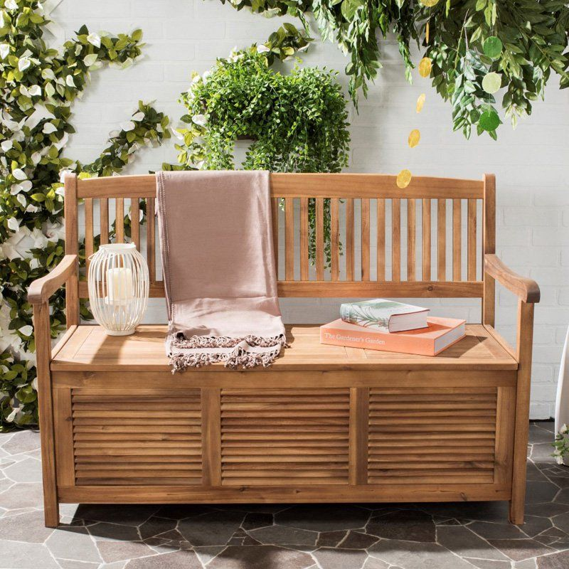 Astonishing Outdoor Safavieh Brisbane 4 Ft Storage Bench Pat7017B Caraccident5 Cool Chair Designs And Ideas Caraccident5Info