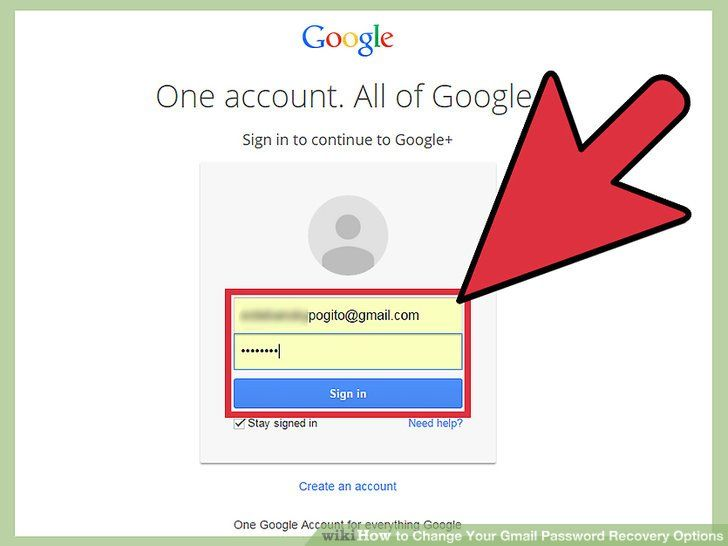 How to recover gmail username and password