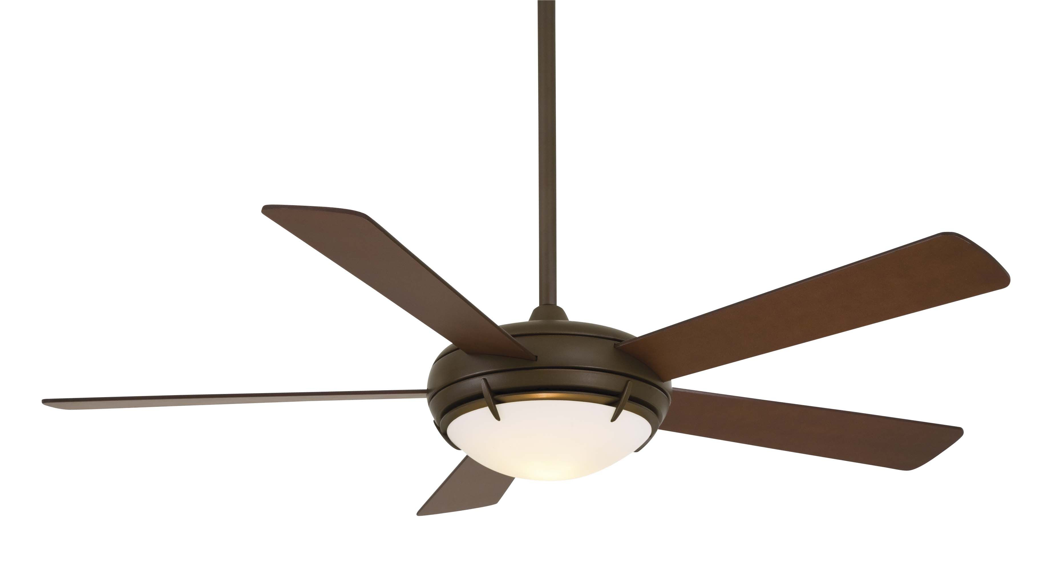 Como Fan With 5 Silver Blades And Satin White Opal Glass Combines