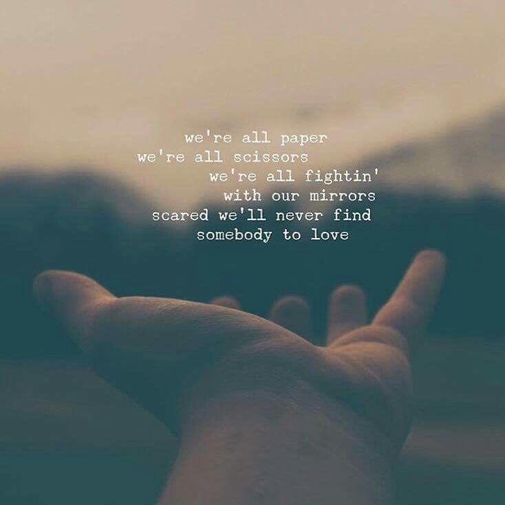Lyrics for love somebody