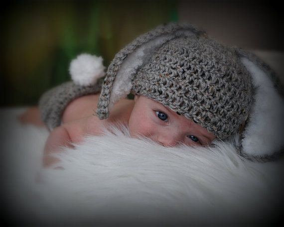 Crochet Baby Hats Crochet Baby Hat Easter Bunny Rabbit Ears Free Shipping Phot... Check more at https://www.newbornbabystuff.com/crochet-baby-hats-crochet-baby-hat-easter-bunny-rabbit-ears-free-shipping-phot/