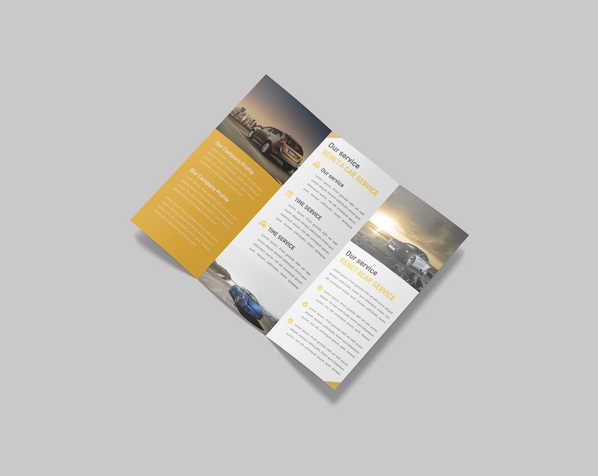 free trifold brochure mockup psd template