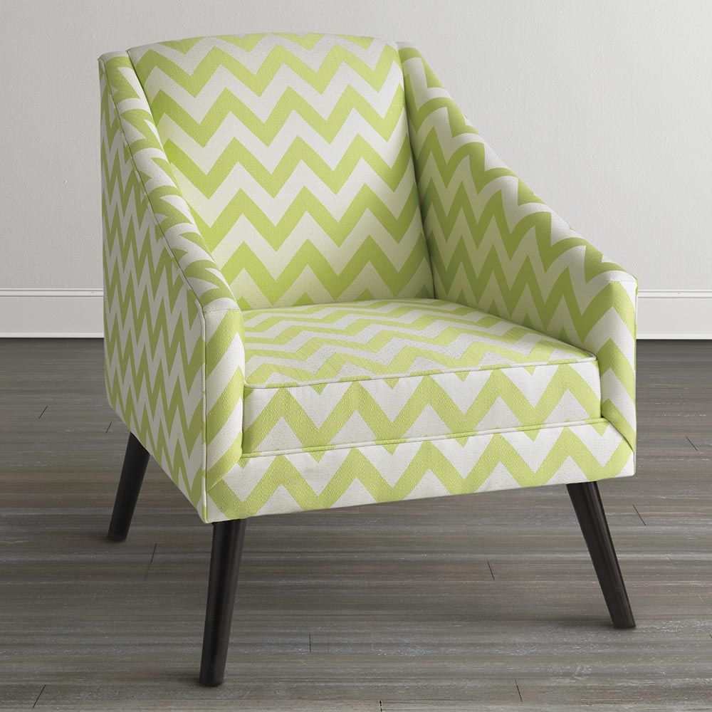 Modern Accent Chair Lime Green Fabric accent chair