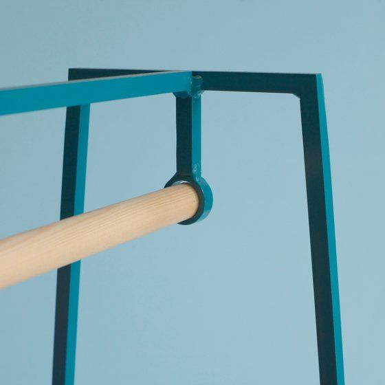 'A' clothes rail in paper white is part of Clothes Rack Tumblr - The steel 'A' clothes rail is one of our signature pieces  A stunning addition to any bedroom or hallway, it looks delicate but is