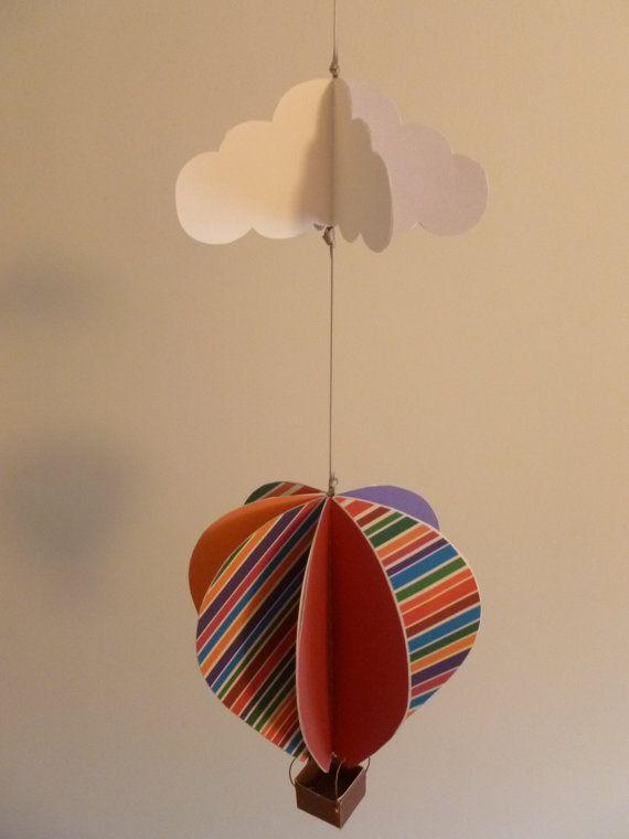 Print-it-Yourself DIY Hot Air Balloon Mobile   Diy hot air ...