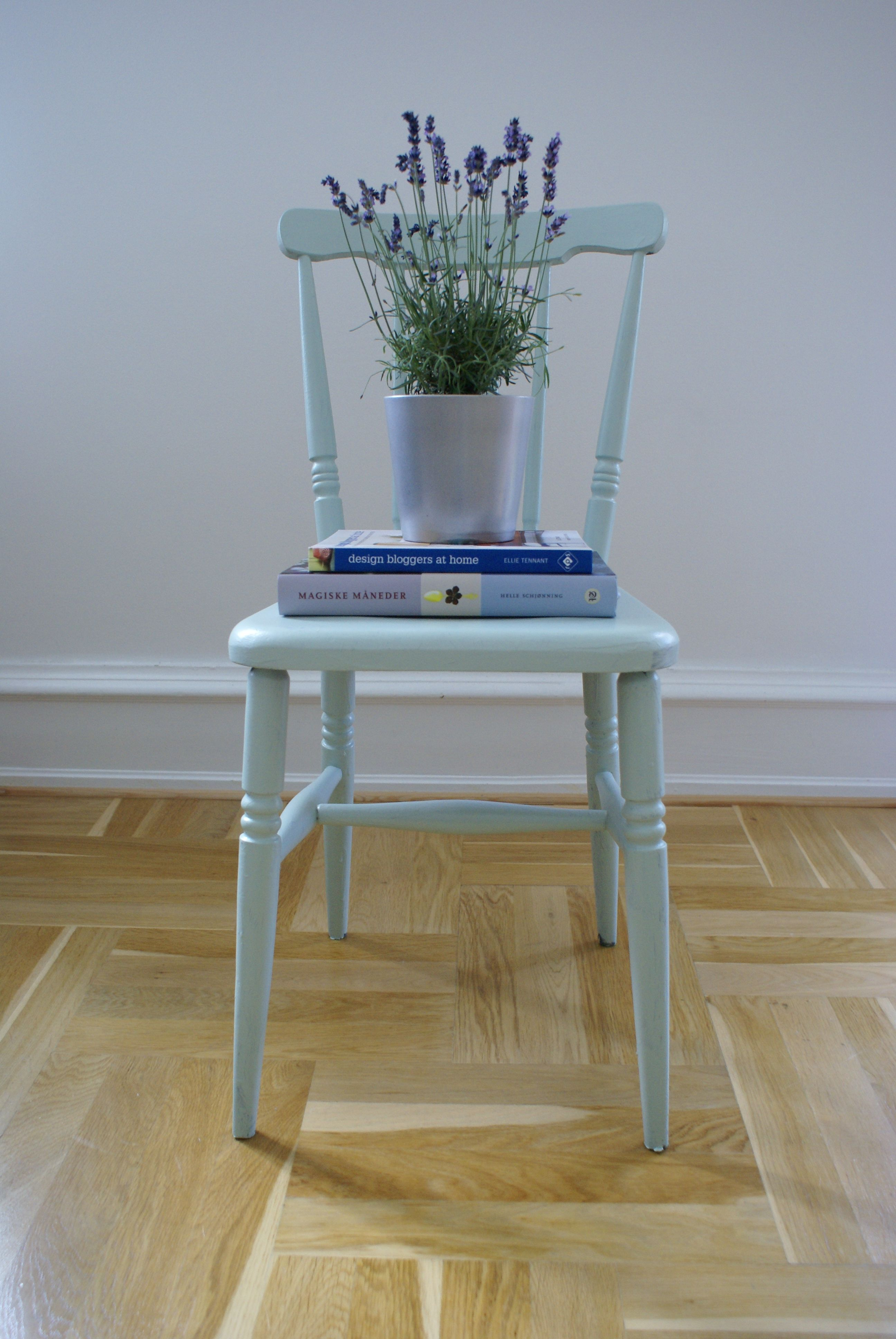 A rescued chair given a new look using Teresa\'s Green by Farrow Ball ...