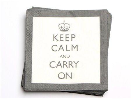 Keep calm servietter - Hansen & Co