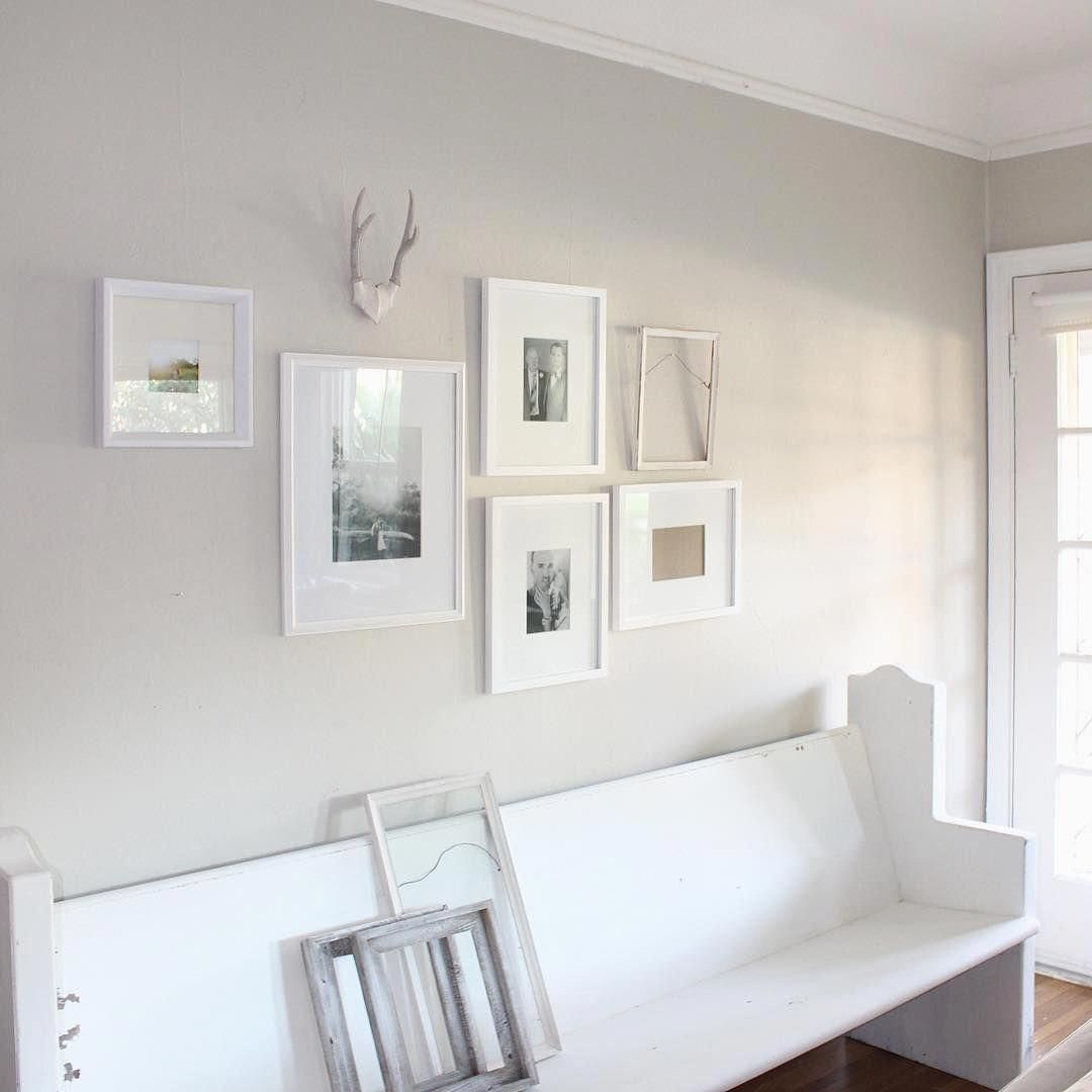 """Revere Pewter With Yellow Accent Wall: Wall Color: Benjamin Moore """"Revere Pewter"""" Lightened 50"""