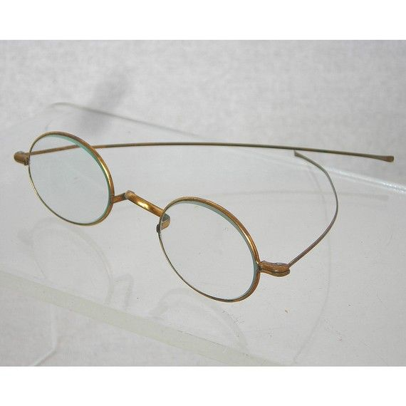 f033a40eb3a Vintage Oval Wire Rim Glasses 1800s Gold Wash by atomickatz, $75.00 ...