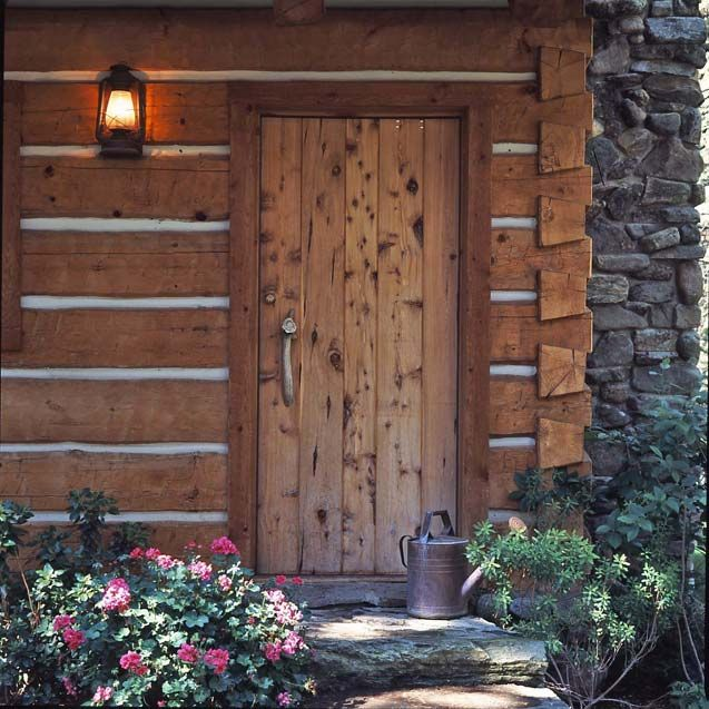Jack Hanna\'s log cabin-front door   Cabin doors, Cabin and Log cabins