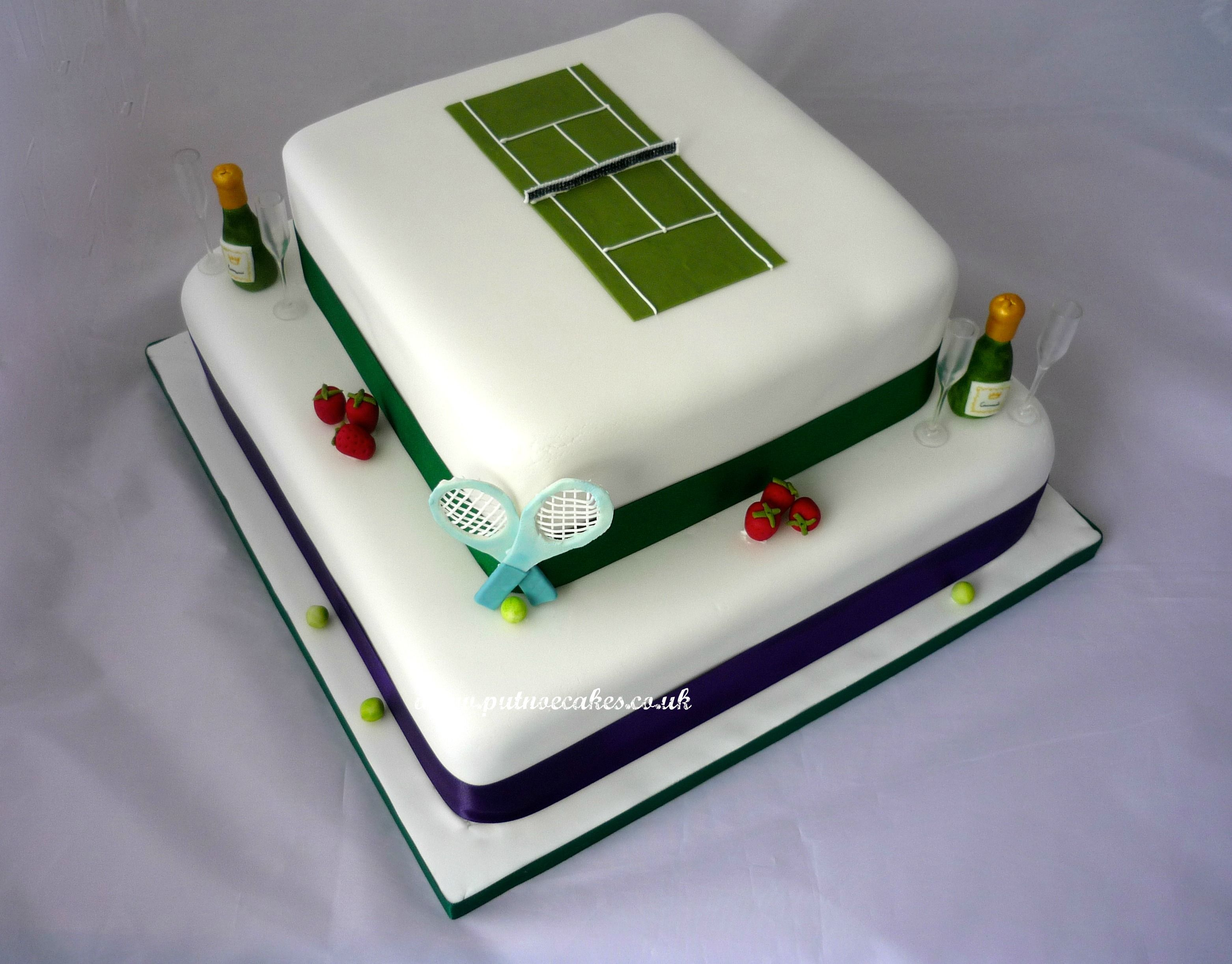 Wimbledon Themed Wedding Cake The Tennis Court Is To