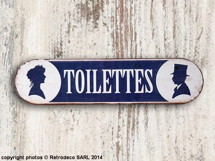 Plaque Décorative Toilettes Déco Brocante Brocante And Toilettes Deco - Plaques de porte décoratives