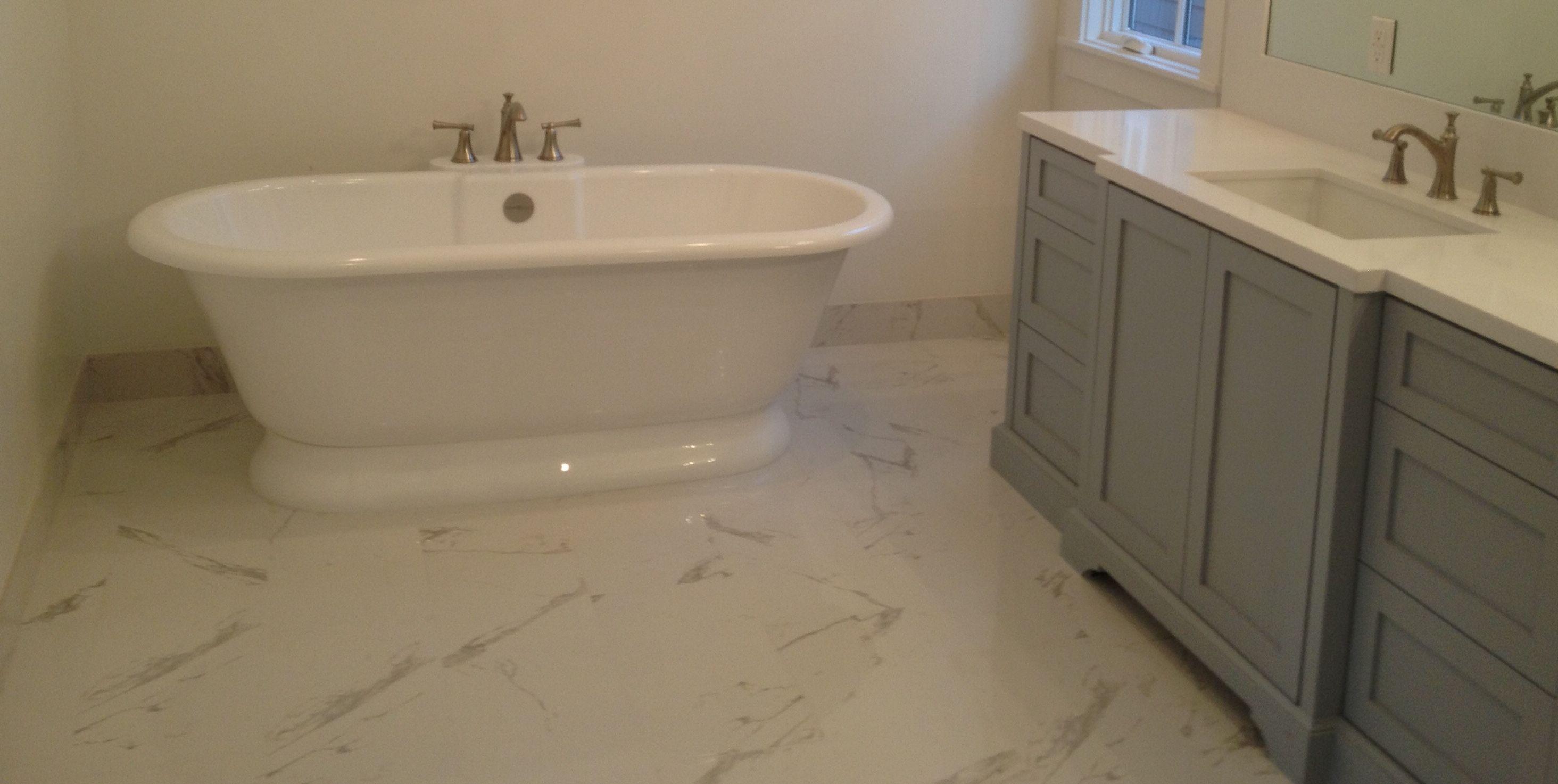 12x24 Carrara Porcelain Polished Bathroom Traditional Contemporary Marble Porcelain Ctm Tile 310 379 7646 Bathroom Sets Polished Bathroom Fitted Bathroom