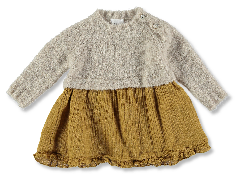 Bºho Mia Dress in Ecru Ocre Scandi Mini Winter Pinterest