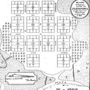 Florida Plat Maps.Plat Map Of Old Town Florida 1811 Historic Fernandina