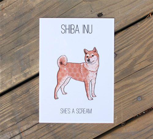 Shiba Inu Print Modern Dog Art By Adrianawillsie On Etsy 12 00 Shiba Inu Modern Dog Dog Art